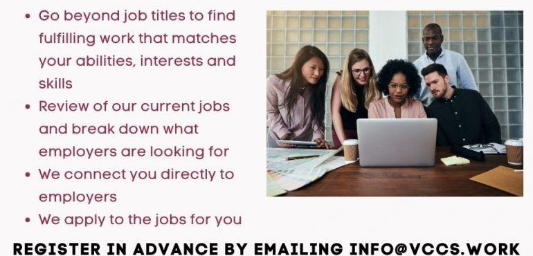 Poster for Job Match workshop