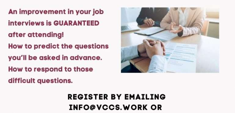 Poster for Interview Workshop with VCCS